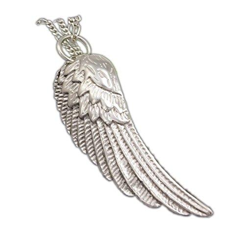 ASS 925 Silber große Anhänger Engelsflügel,Engel Flügel Kettenanhänger 57 mm (Wenn Engel Rufen)