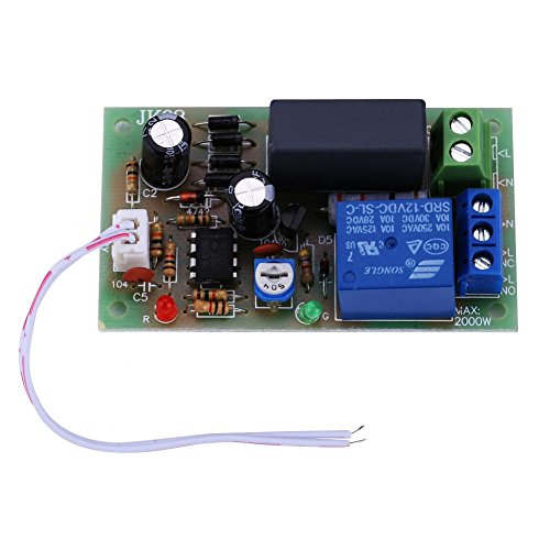 Akozon Zeitgeber Relais Modul AC220V Eingang/Ausgang Trigger Timer Delay Schalter Modul Ausschalten Board Adjustable Time Timer Verzögerung modul(1 Sekunde bis 5 Minuten) -