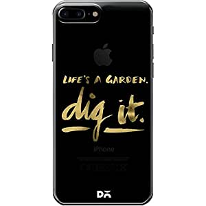 DailyObjects Digit Gold Clear Case For iPhone 7 Plus