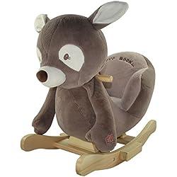 "Sweety Toys 4867 cavalli a dondolo cervo ""Daniel the dark brown deer """