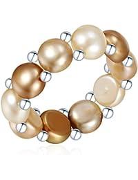 Valero Pearls - Bague - Perles de culture d'eau douce - Argent sterling 925 - Bijoux de perles - Bijoux pour femmes, bijoux en argent - 311430