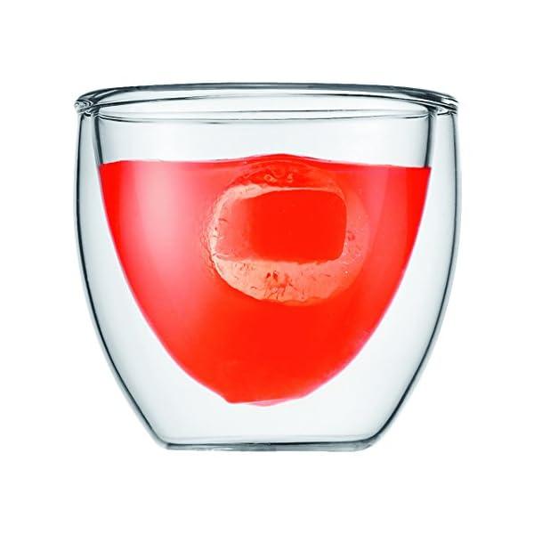 Bodum Pavina - Set de 6 Vasos térmicos, Cristal borosilicato 1