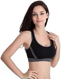 FNKDOR Mujeres acolchadas sujetador Top chaleco deportivo Gimnasio Fitness Deportes Estiramiento de Yoga