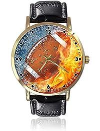 06f0c8fabca3c Reloj de Pulsera de Cuarzo Casual de Piel Unisex con diseño de balón ...