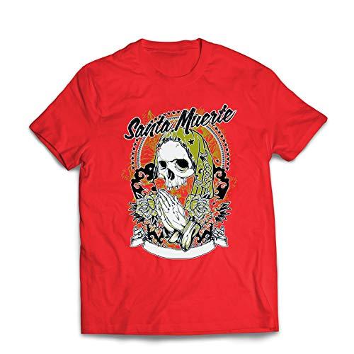 23f33ae44 lepni.me Camisetas Hombre Nuestra Señora de la Santa Muerte -  personificación Mexicana de la