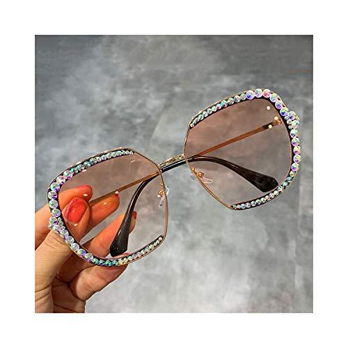 FGRYGF-eyewear2 Sport-Sonnenbrillen, Vintage Sonnenbrillen, NEW Sunglasses Women Luxury Rhinestone Square Sun Glasses Clear Lens Oversized Men Sunglasses Vintage Shades orange