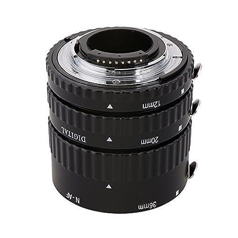 EACHSHOT Metal Auto Focus AF Macro Extension Tube Set for Nikon D750 D810 D7100 D5300 D5200 D3200 D800 D800E D5100 D7000 D3100 D300S D5000 D700 D300,