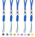 ZhaoCo Portabadge Laccio da Collo, 5 pezzi Staccabile Nylon Collo Cordino porta Badge per Affari, ufficio, mostre, telefoni cellulari, iPod, USB flash driver, chiavi, biglietto da visita - Blu