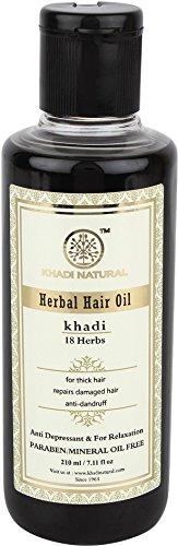 Khadi Natural Ayurvedic Herbal 18 Herbs Hair Oil for Strong Smooth Hair (210 ml)...