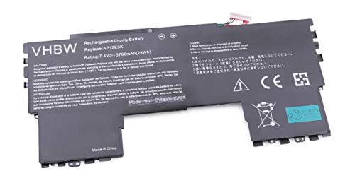 vhbw Batterie 3790mAh (7.4V) pour Ordinateur Portable, Notebook Acer Aspire Aspire S7 11\