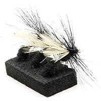 Lakeland Fishing Supplies 3, 6 o 12 Moscas Negras para truchas secas para Pesca con Mosca, Hook Size 10