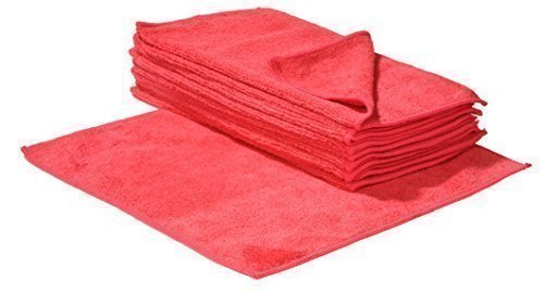Mikrofaser-Reinigungstücher - 40 x 40 cm - Rot - 10 Stück Microfacertuch, Poliertuch