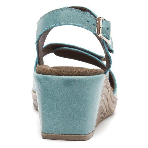 Laccio Wolky scarpe, 6286 squallido Stroll 387 blau Leder