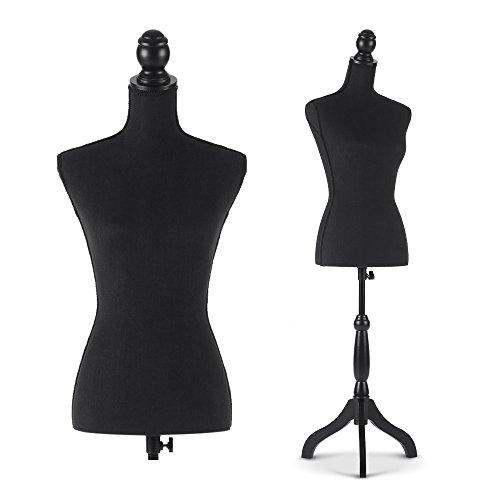 IKayaa Mannequin Femminile Torso Dress Form con legno Treppiede Stand Pinnable Dimensioni 34