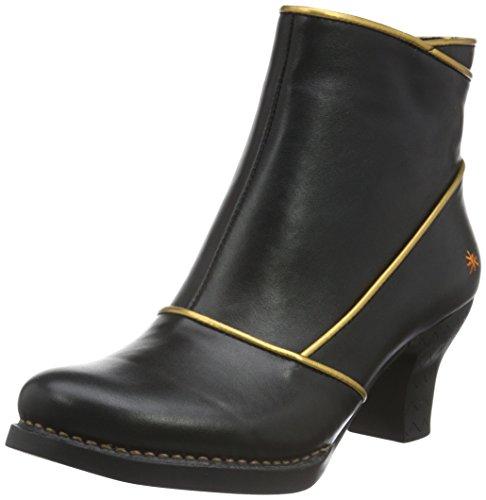 Schwarz gold Art Kurzschaft Harlem Stiefel Damen black xnwqYU0qTZ