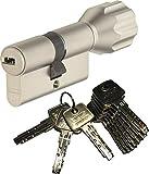 ABUS EC550 Profil-Knaufzylinder Länge Z45/K30mm mit 10 Schlüssel