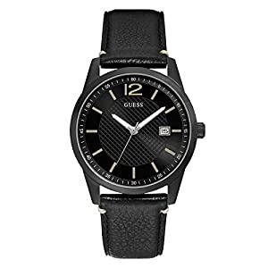 Guess Reloj Analógico para Hombre de Cuarzo con Correa en Piel W1186G2