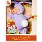 Anne Geddes Lilac Purple Bunny Beanie Doll
