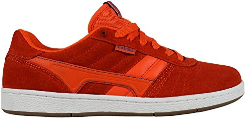 ETNIES Skate Skateboard Shoes BARCI Orange/White/Gum Size 8  -