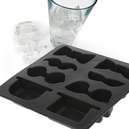Yeptop Eiswürfelform für Gentlemans, Schnurrbart, Hut, Gläser, Schokolade, Süßigkeiten, Seife, Gelee, Kochen, Backen, Küchenwerkzeug -
