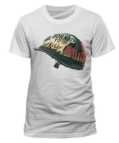 Full Metal Jacket Shirt (FULL METAL JACKET - HELMET - Offizielles Weißes T-Shirt 100% Baumwolle (S))