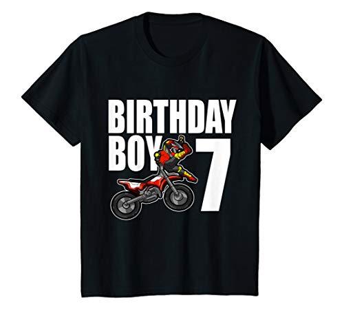 Kinder 7. Geburtstag Motocross Shirt Geschenk 7 Jahre Alt Motorrad T-Shirt (Motocross Kostüm Kinder)