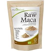 Polvo De Maca Orgánica (500g) / MySuperFoods/Repleto de nutrientes saludables/Antiguo alimento para la salud de Perú/Delicioso sabor a maltosa/certificado como producto orgánico