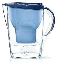 BRITA Wasserfilter Marella blau inkl. 1 MAXTRA+ Filterkartusche – BRITA Filter zur Reduzierung von Kalk, Chlor & geschmacksstörenden Stoffen im Wasser