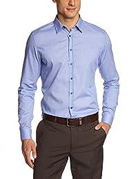 Seidensticker Herren Slim Fit Businesshemd KENT PATCH 570936 UNO SUPER