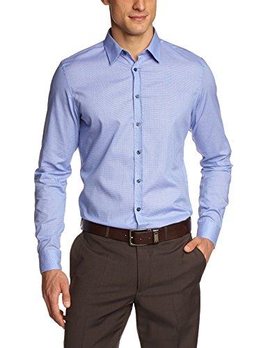 Seidensticker Herren Slim Fit Businesshemd KENT PATCH 570936 UNO SUPER Blau (blau 14)