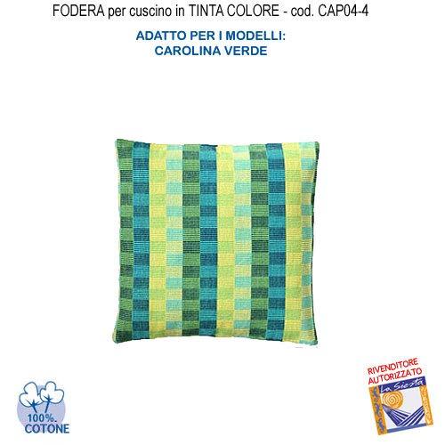 Carolina Kissen (Kissenbezug in Uni-Kissen Farbe Carolina grün CAP04-4)