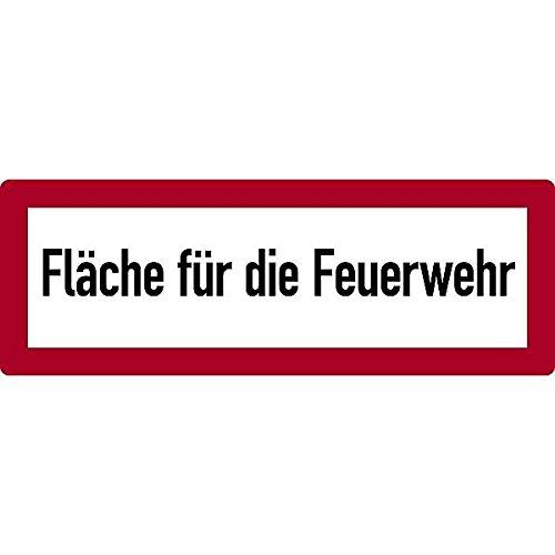 LEMAX® Schild Fläche für die Feuerwehr gemäß DIN 4066 Alu geprägt 594 x 210 mm (Feuerwehr, Parkverbot) wetterfest