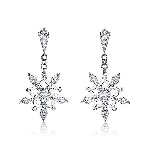 Frost Klar Weiße Form (Cyuang Ohrringe Ohrstecker Ohrhänger Silber Farbe Klar Die Frost Form Crystal Ohrring Für Frauen Machen Modeschmuck Engagement)