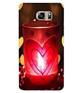 ColourCraft Love Candle Design Back Case Cover for SAMSUNG GALAXY NOTE 6