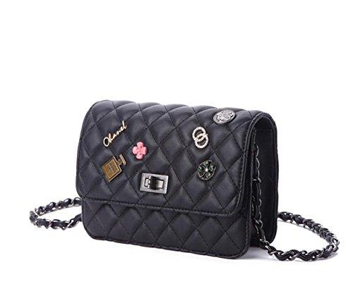 GBT Die Tendenz der klassischen Kettenschulter-Beutel-wilden Handtasche Black