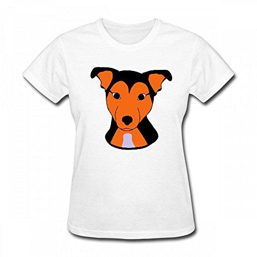 qingdaodeyangguo T Shirt For Women - Design Cute Dog Shirt White