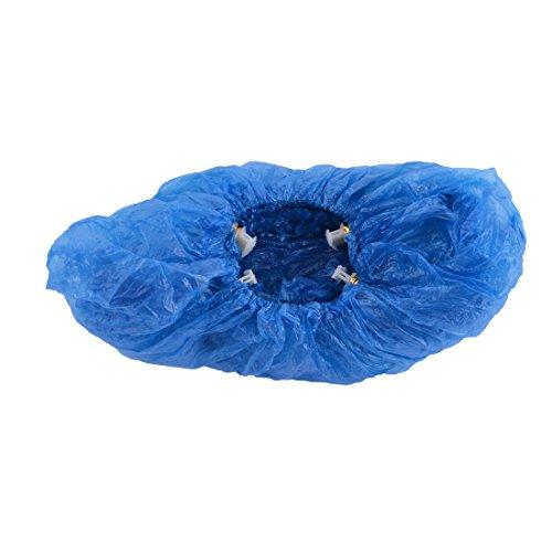 sourcingmap® Housse de Chaussure Bande élastique plastique Couvre-chaussures jetables Bleu 10pcs