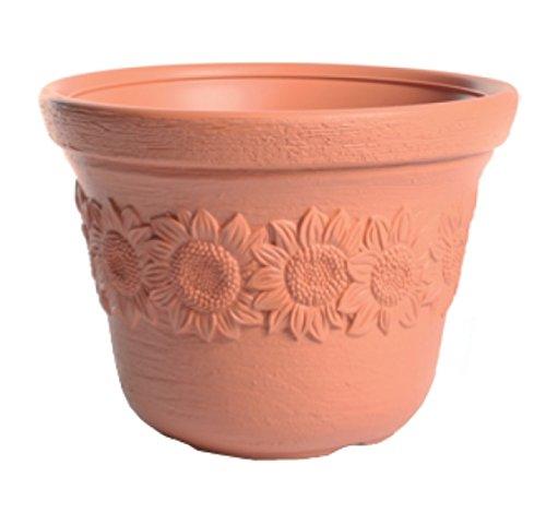 Terra Pot de Fleurs Sunny, Terre Cuite, 40 cm