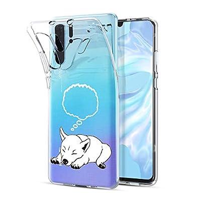 Oihxse Transparente Silicona Case Compatible con Huawei P9 Plus Funda Suave TPU Protección Carcasa Moda Dibujos Animados Divertida Diseño Ultra-Delgado Cubierta