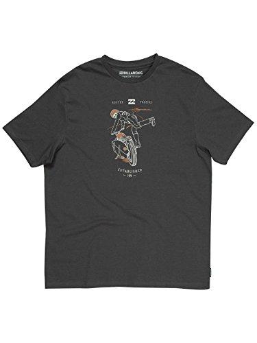 Billabong Herren T-Shirt Kick Start Ss Asphalt