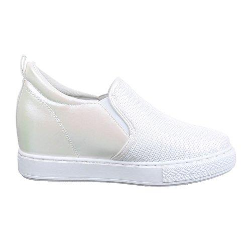 Ital-Design , chaussons d'intérieur femme Blanc