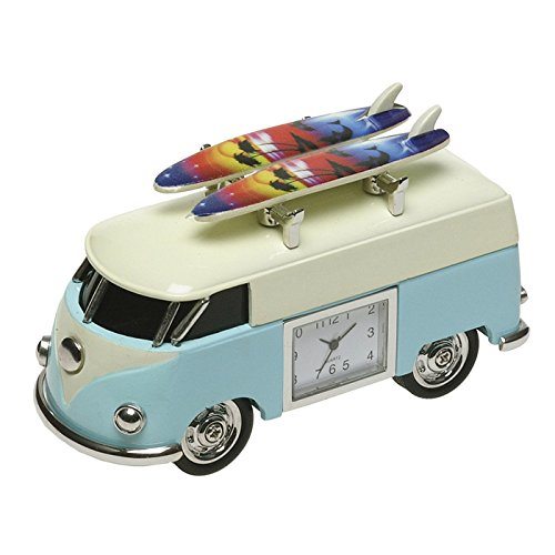 Nuovo vw campervan mini desktop clock (grandi uomini's gift) con tavole da surf surfer