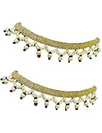 Sadhana Jewels Golden Color Alloy Anklets For Women - B07B4WJJHX