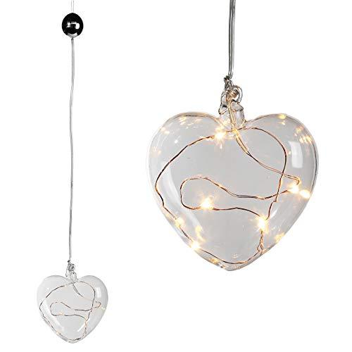 Preis am Stiel 4X Deko-Leuchte ''Herz'' | Tischlampe | Geschenk | Nachtlicht