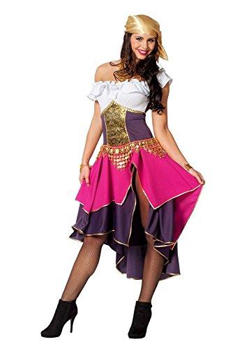 Kostüm Hexe Zigeuner - Damen Kostüm Zigeunerin Piratenbraut Karneval Fasching Gr.44
