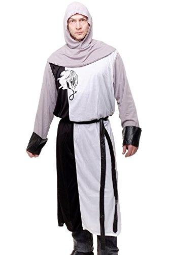 DRESS ME UP - Kostüm Herrenkostüm Mittelalter Ritter Kreuzfahrer Knappe Arthur L085 Gr. (Kreuzfahrer Erwachsene Ritter Kostüme)