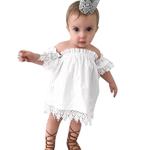 Simonabo Casual Kids Baby Girl Princess Lace Party Top Hochzeit Kleid (Size Plus Sexy Für Mädchen Outfits)