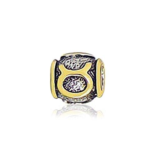 Bling Jewelry Oro Vermeil Sterling Silver Taurus Zodiac Bead