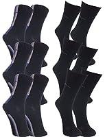 6 Paar s.Oliver Herren Socken schwarz / blau / lila