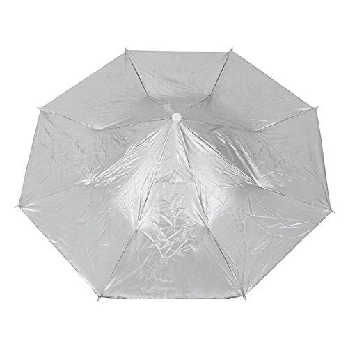 Angeln, Camping, von Hand faltbarer Schirm Mütze Kappe Kopfbedeckung-Kopf, Blau